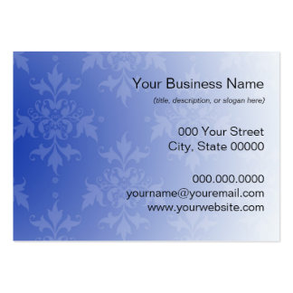 Cobalt Blue and White Damask Business Card Templates