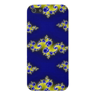 Cobalt Blue and Yellow Swirls Cases For iPhone 5