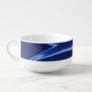 Cobalt blue background soup mug