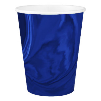 Cobalt blue background Textured Handmade Paper Cup