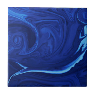 Cobalt blue background Textured Handmade Tile