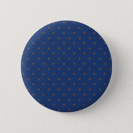 Cobalt Blue Brown Polka Dots. Need More Flair? Buy 6 Cm Round Badge