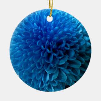 Cobalt blue flower macro ornament