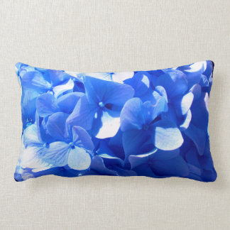 Cobalt blue Hydrangeas Lumbar Cushion