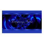 Cobalt Blue Metal Abstract Business Card Black Business Card Template