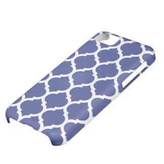 Cobalt blue moroccan quatrefoil pattern cover for iPhone 5C