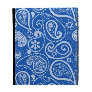 Cobalt Blue Paisley; Floral iPad Case