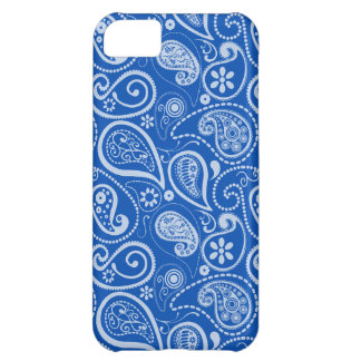 Cobalt Blue Paisley Floral Case For iPhone 5C