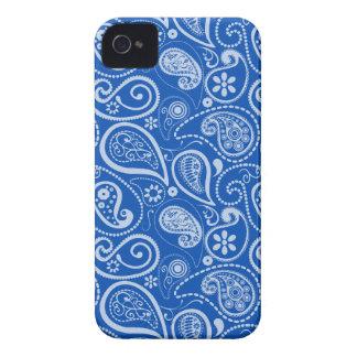 Cobalt Blue Paisley Floral Case-Mate iPhone 4 Case