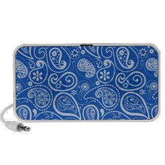Cobalt Blue Paisley; Floral Travelling Speaker