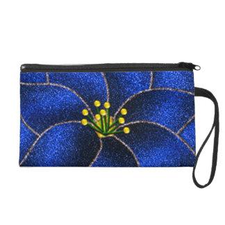 Cobalt Blue Poinsettias Wristlets