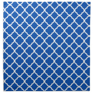 Cobalt Blue Quatrefoil Napkin
