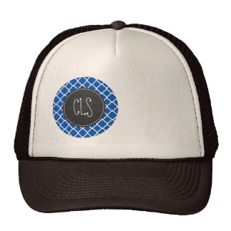 Cobalt Blue Quatrefoil; Retro Chalkboard Cap