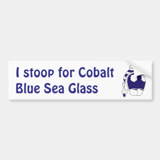 Cobalt Blue Seaglass Bumper Sticker