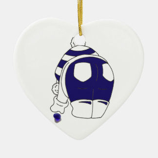 Cobalt Blue Seaglass Ceramic Heart Decoration