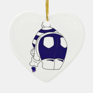 Cobalt Blue Seaglass Christmas Ornament