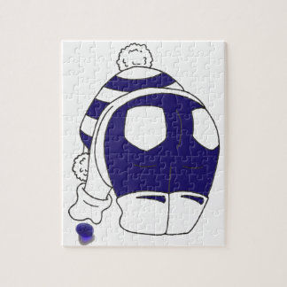 Cobalt Blue Seaglass Jigsaw Puzzle