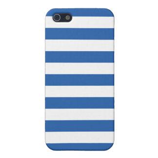 Cobalt Blue Stripes Pattern iPhone 5 Cover
