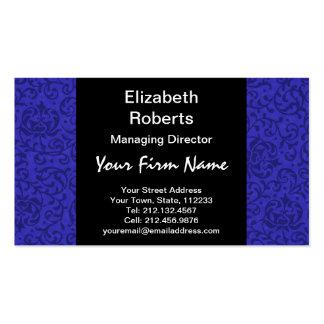 Cobalt Blue Tudor Garden Floral Damask Pack Of Standard Business Cards