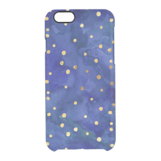 Cobalt Blue Watercolor & Gold Dot iPhone 6/6s Case iPhone 6 Plus Case