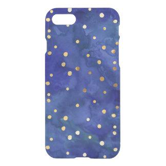 Cobalt Blue Watercolor & Gold Dot iPhone 7 Case