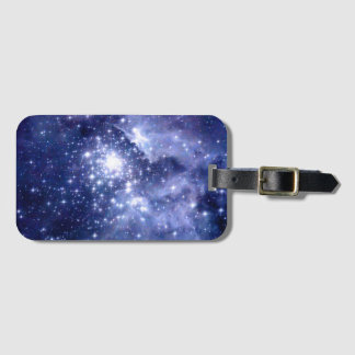 Cobalt Dreams Stars Galaxies Space Universe Nebula Luggage Tag
