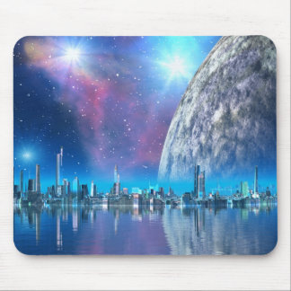 Cobalt Island Cities of the Future Mousemat