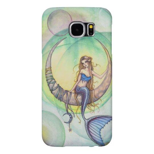 Cobalt Moon Mermaid Fantasy Art Illustration Samsung Galaxy S6 Cases