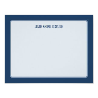 Cobalt Simple Note 11 Cm X 14 Cm Invitation Card