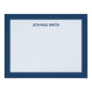 Cobalt Simple Note 11 Cm X 14 Cm Invitation Card