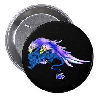 Cobalt Winged Drake Button