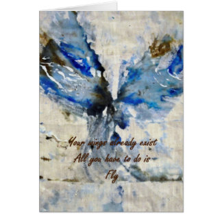 CobaltMoonDesign Art Quote Greetings Card