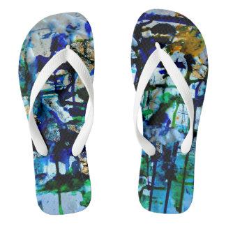 CobaltMoonDesign Beautiful Earth Art flip flops