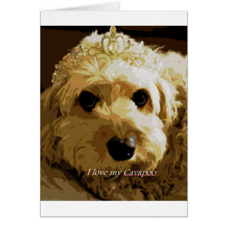 CobaltMoonDesign Cavapoo Greeting Card