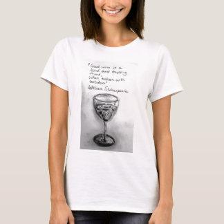 Cobaltmoondesign, Wine Quotation T-shirt