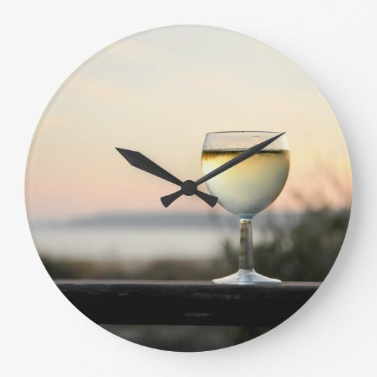 CobaltMoonDesignClocks, Wine Time,Round Wall Clock