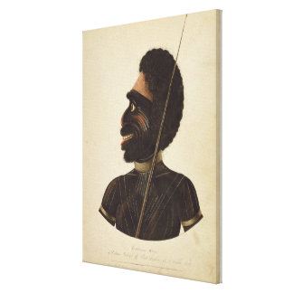 Cobbawn Wogi, native chief of Port Stephen Canvas Print