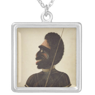 Cobbawn Wogi, native chief of Port Stephen Silver Plated Necklace