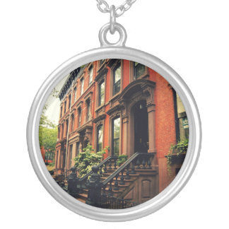 Cobble Hill Brownstone Round Pendant Necklace