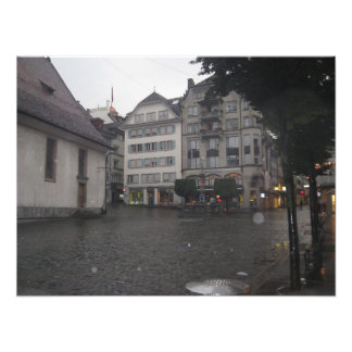 Cobble stone path in Lucerne Photo Print