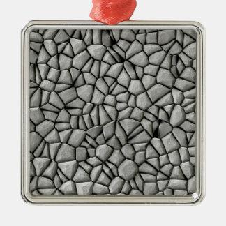 Cobble stones surface christmas ornament