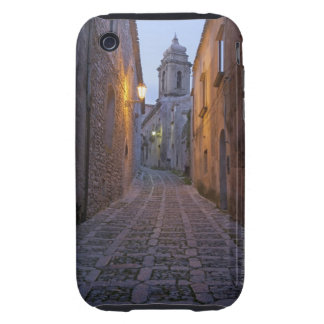 Cobbled alleyway of old city lit up at night tough iPhone 3 cover