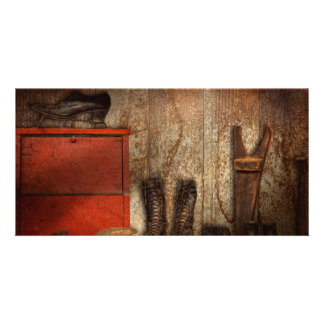 Cobbler - The shoe shiner 1900  Personalised Photo Card
