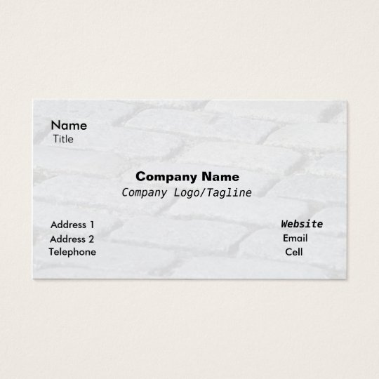 Cobblestone Abstract Business Card