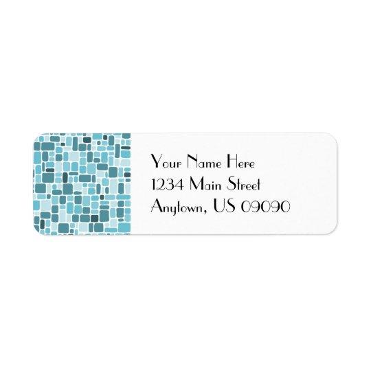 Cobblestone Address Labels (Aqua)