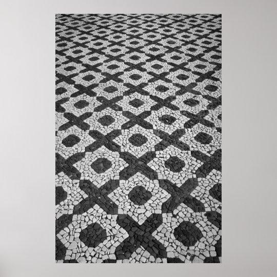 Cobblestone patterns poster