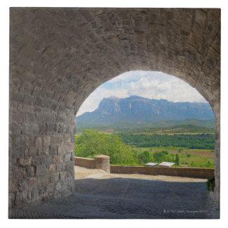 Cobblestone road, Pyrenees mountains Tile