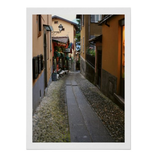 Cobblestone Street at Bellagio Poster