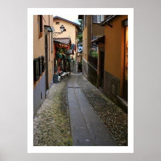 Cobblestone Street at Bellagio Poster