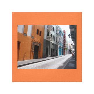Cobblestone streets canvas print